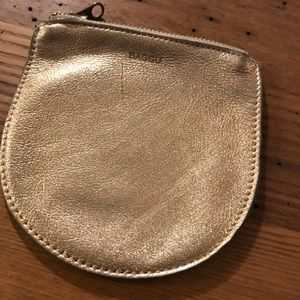 Gold leather Baggu coin purse